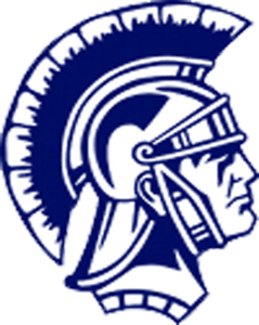 Chatard high school logo A blue and white gladiator head.