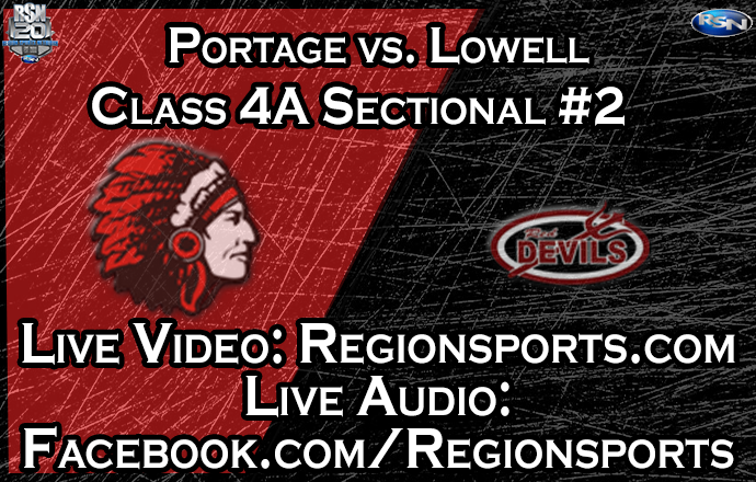 WATCH: Portage vs. Lowell Boys Basketball – Class 4A Sectional #2